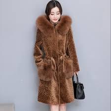 best new 2017 brand fashion fox fur winter coat women sheep sheared fur jacket women long coat warm winter parka plus size under 271 49 dhgate com