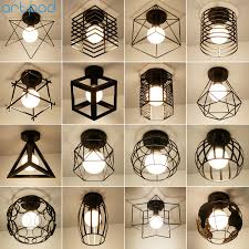 <b>Artpad</b> Simple Black White Kitchen <b>Ceiling Lights</b> Metal Bird Cage ...