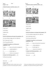 399 Present Continuous Worksheets and Lesson Plans: FREE and ...