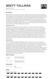 Ceo And President Resume Samples Visualcv Resume Samples Database