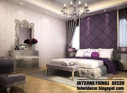 Bedroom Designs Ideas Modern Bedroom Design And Purple Wall Decoration Ideas With Hanging Lamps And White Pillow And Purple