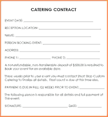 Catering Contract Samples Catering Agreement Template Ransjournal Com