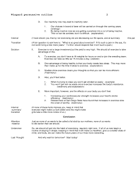 sample outline for a persuasive speech  2 sample outline for a persuasive speech