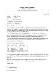 Isi surat, yang terdiri dari: Contoh Proposal Penawaran Catering Ke Sekolah Aneka Macam Contoh