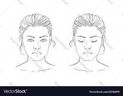 Makeup Artist Eye Charts Face Chart Makeup Artist Blank Template