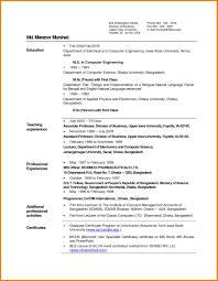 Sample Resume Of Fresher Teacher Sidemcicek Com