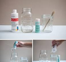 something turquoise diy hand painted glass jars