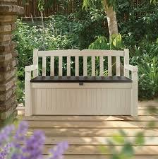 eden plastic garden storage bench