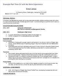 First Job Resume Examples First Job Resume Template First Part Time