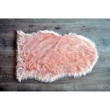 blush fur rug faux sheepskin blush area rug blush pink fur rug
