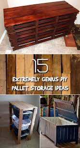 pallets into furniture. 15 Extremely Genius DIY Pallet Storage Ideas Pallets Into Furniture