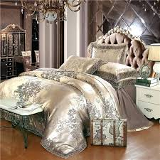 luxurious bedding sets 4 pieces gold lace jacquard luxury bedding set queen king size bed set
