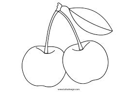 Frutta Da Colorare Ciliegie Tuttodisegnicom