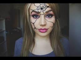 easy ed broken doll makeup tutorial