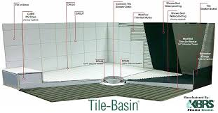 tileable shower pan with tile basin details base designs 2