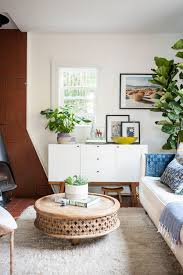 mid century modern living room with a boho twist home tour ashley redmond