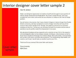 Cover Letter Interior Design Junior Interior Designer Resume Format