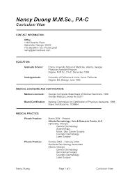 Sample Physician Assistant Cv Resume Professional User Manual Ebooks