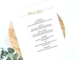 Party Menu Template Fancy Dinner Menu Template Chanceinc Co