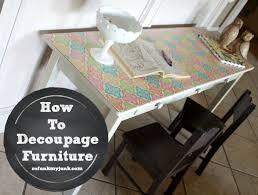 diy decoupage furniture. Decoupage Furniture 17 Diy