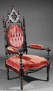 Victorian Furniture Revivals. Victorian Gothic Revival Upholstered Chair