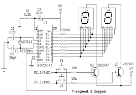 led how to use a common anode segment digit display enter image description here