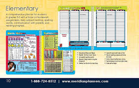 Student Daily Planner With Subjects Meridian Student Planners For Students By Students