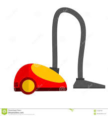 Cleaner House Cartoon Flat Illustration Vacuum Cleaner Stock Vector