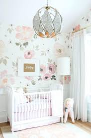 baby girl nursery wallpaper tropical jungle in twin room .