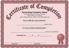 samples of certificates generic certificate of completion experimental pics microsoft word
