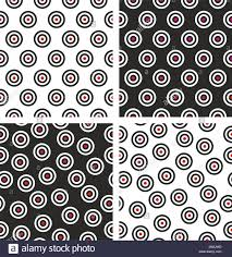 Bullseye Pattern New Red Bullseye Target Seamless Pattern Set Stock Vector Art