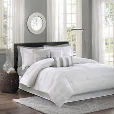 white cal king comforter. Brilliant Comforter Image Is Loading LuxuryCalKingComforterSet7PieceJacquard Intended White Cal King Comforter