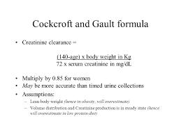 36 croft and gault formula creatinine clearance