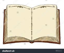 empty old book template vector cartoon ilration