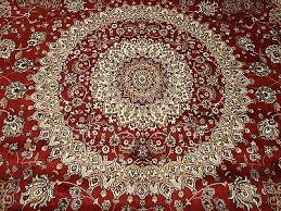 large persian silk rugs 8 round rugs red silk rug circle carpet 8x8 ft 3