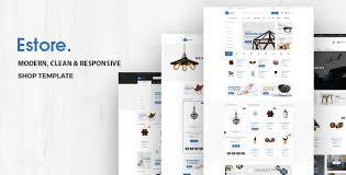 Modern Website Templates Unique Estore Multipurpose Responsive ECommerce Template By HasTech
