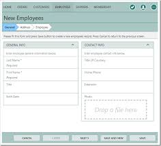 employee contact info code on time wizards in touch ui