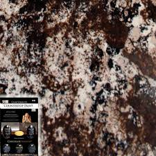 Paint Kitchen Countertops To Look Like Granite Giani Granite Chocolate Brown Countertop Paint Kit Home The O
