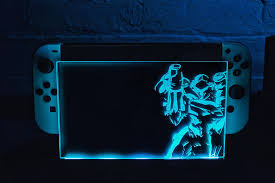 Nintendo Switch Dock Light Up I Had My Own Cover Made For The Light Up Switch Dock Metroid
