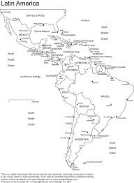 Latin America Printable Blank Map South America Brazil Teaching