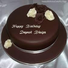 Rose Chocolate Birthday Cake For Deepak Bhaiya
