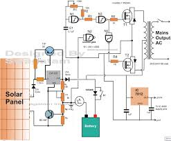 Solar Panel Circuit Design Electronic Circuit Projects How To Make A Solar Inverter