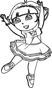 Small Picture Dora Ballerina Coloring Page Wecoloringpage