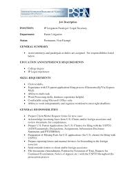 Secretary Job Description For Resume Resume For Secretary Job Therpgmovie 2