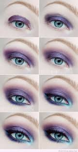 description purple and blue eye makeup tutorial