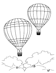 Paper hot air balloon easy colorful summer kids craft. Hot Air Balloon Coloring Pages Free Printable Coloring Home