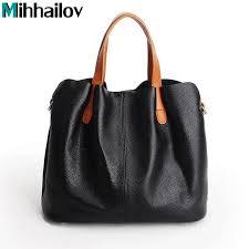 2018 genuine leather women bag brands famous designer women s shoulder bags leather bolsa feminina women large handbags xs 464