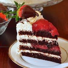 Strawberry Black Forest Cake Aka Strawberry Screech Cake With Rum