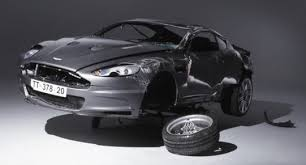 aston martin james bond quantum of solace. foto aston martin the wreck of dbs that barrelrolled a record breaking 7 times james bond quantum solace