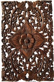 wood wall decor lotus flower oriental home decor decorative wall panel sculpture teak on tiki wood wall art with wood wall decor lotus flower oriental home decor decorative wall